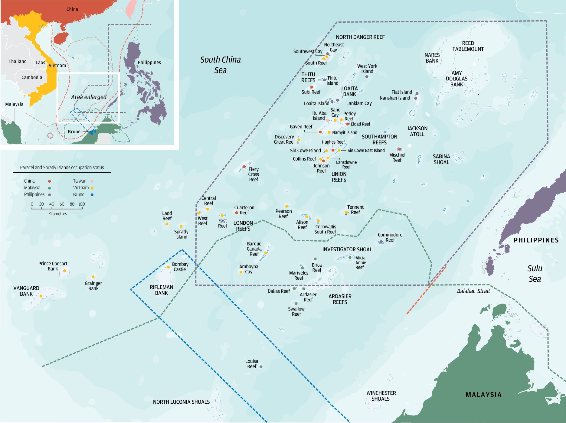 Map Of South China Sea Territorial disputes in the South China Sea   South China Morning Post